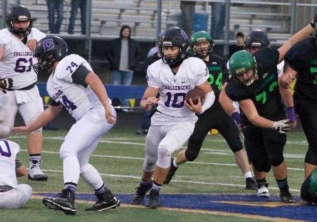 Cascade Christian quarterback Kiegan Schaan has accounted for 15 touchdowns this season. (Photo by Norm Maves. Jr.)