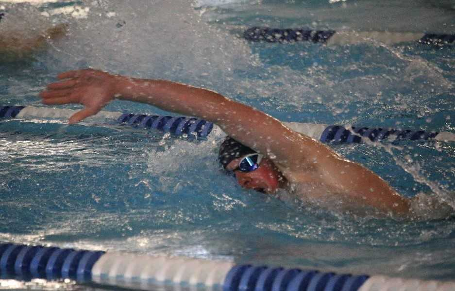 Newport's Luke Bachart was state runner-up in the 500 freestyle last year. (Taylor Balkom/OregonLive)