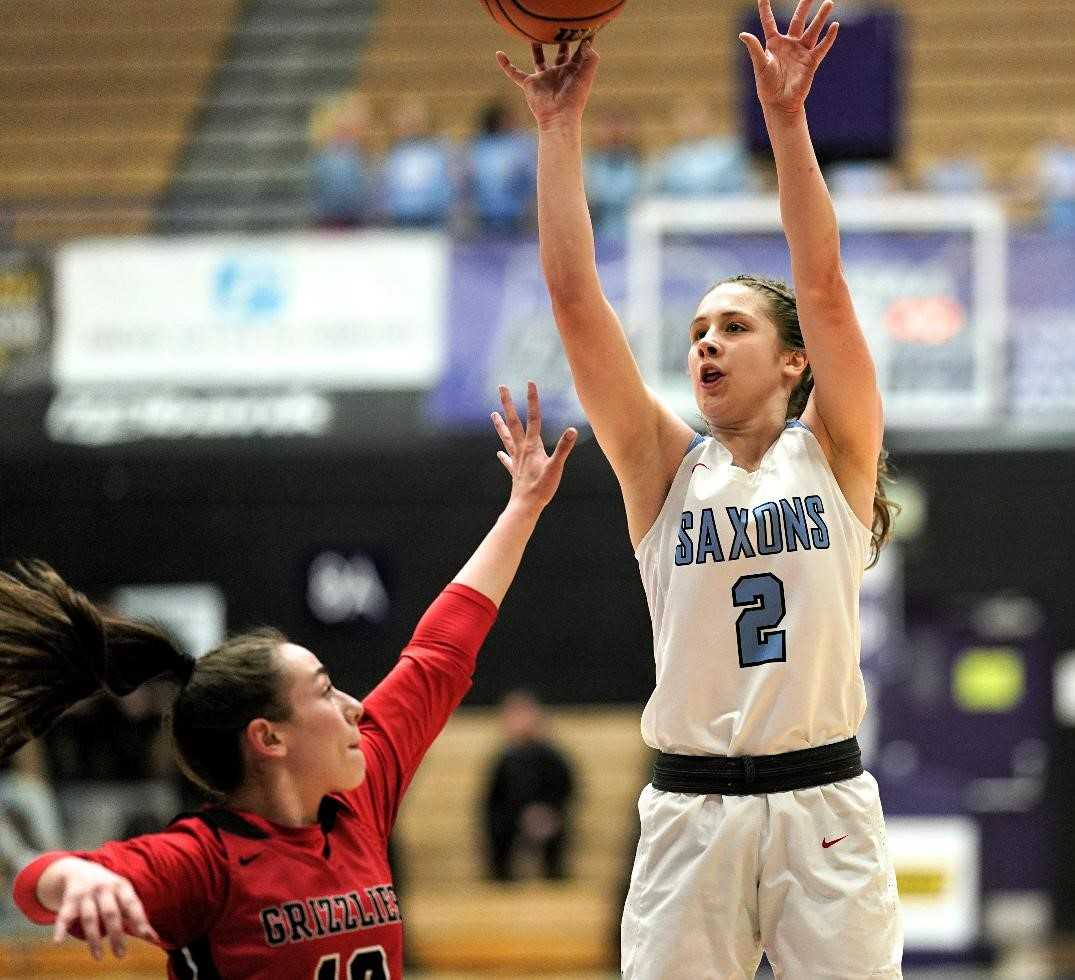 South Salem's Hilary James shot 13 of 19 from the field in Wednesday's win over McMinnville. (Photo by Jon Olson)