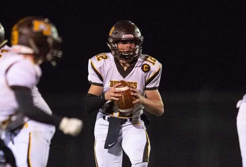 Ian Spalding became North Bend's quarterback last season, guiding the team to a 6-4 record. (Photo by Steven Chan)