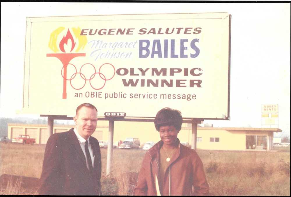 Margaret Johnson Bailes now lives in Oakland but in 1968 she was the toast of Eugene