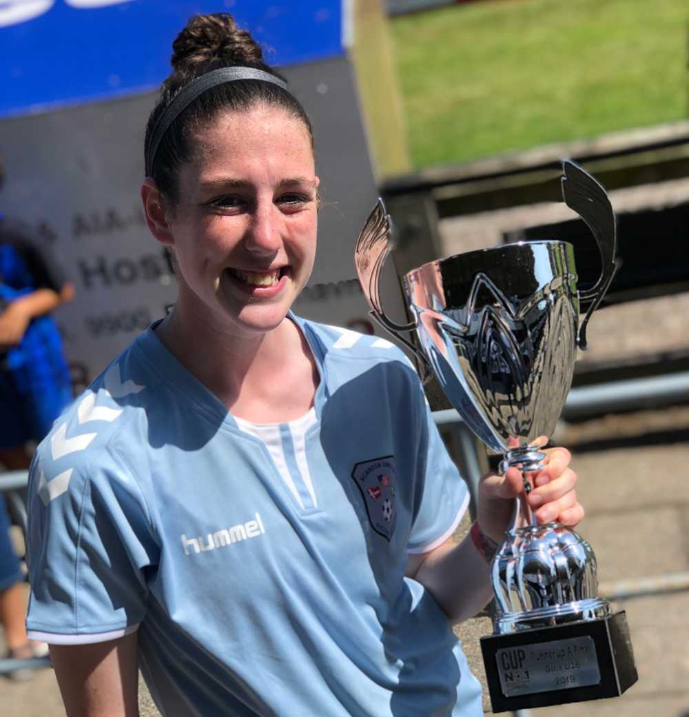 After filling up the net overseas, soccer player Grace Barrett filled up her trophy case
