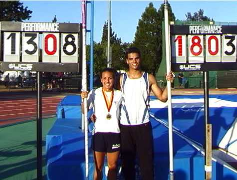 Tommy Skipper wasn't the only vaulter to set a national record that day. Photo from the DyeStat archives