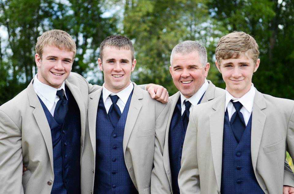 The Cardwells, Zac (left), Caleb, Jeff and Josh, were all well-suited to wrestle at Lowell