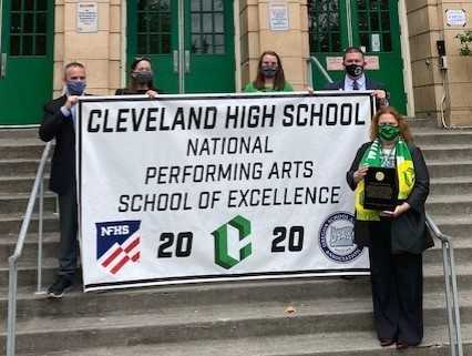 Cleveland principal Jo Ann Wadkins (right) said that the arts 'enrich our lives and play a vital role' in Cleveland's culture.