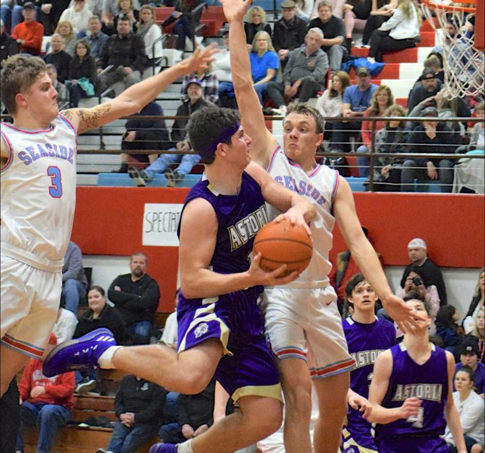 Colton McMaster averaged 16 ppg for Astoria as a sophomore. He is a standout in three sports but enjoys basketballl most.