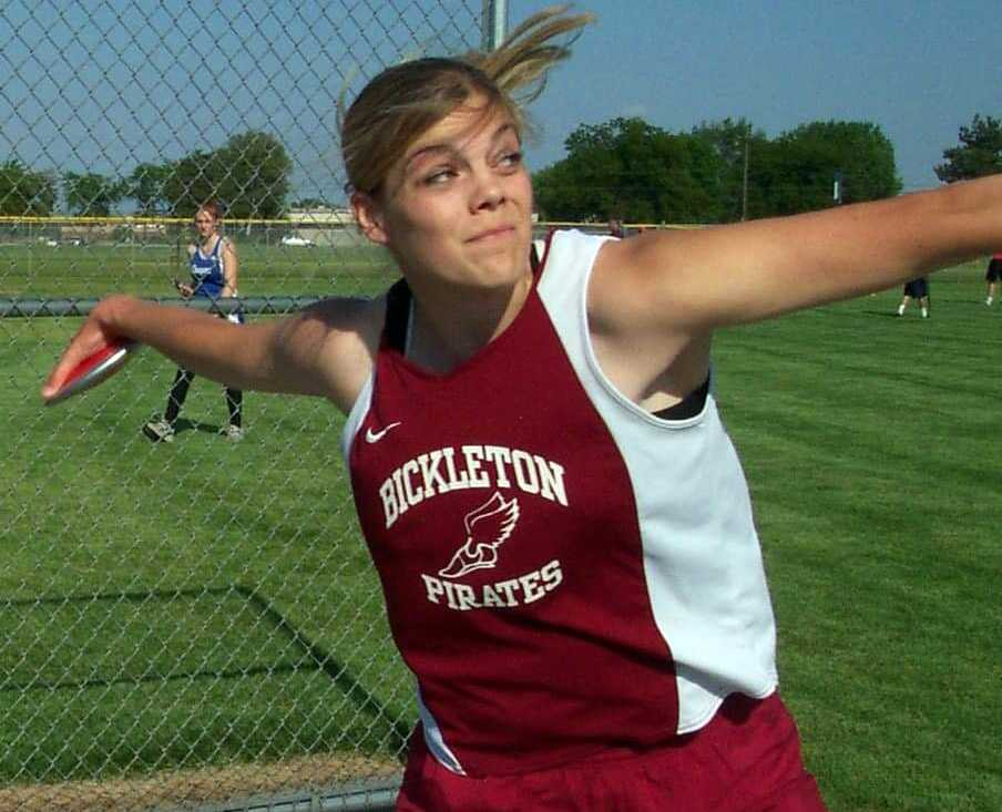 Annie Hess broke the WIAA Class B record in the discus twice while at Bickleton before excelling further at Concordia-Portland