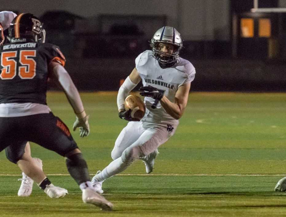 Senior Lucas Graves leads unbeaten Wilsonville in rushing with 292 yards. (Photo by Greg Artman)