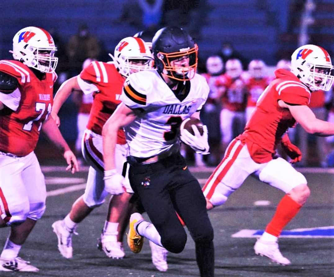 Logan Person leads Dallas in rushing and is perfect as the team's placekicker. (Photo courtesy Dallas HS)