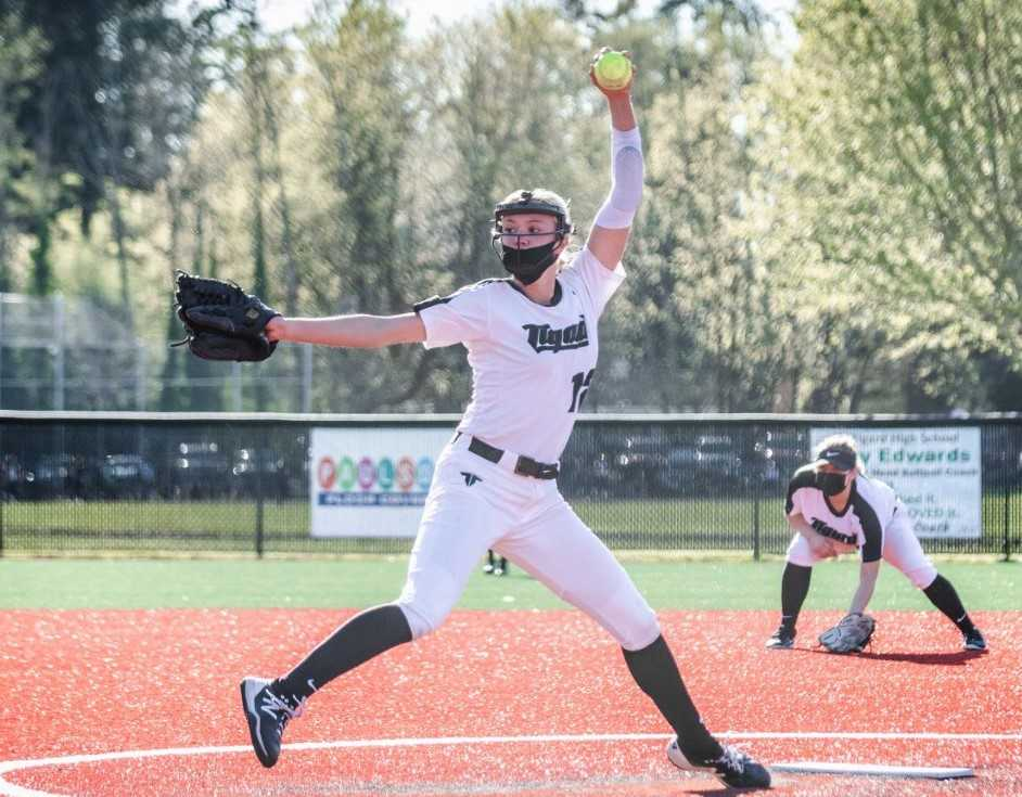 Tigard's Makenna Reid struck out 42 in 20 innings in the opening week. (Photo by Henry Kaus)