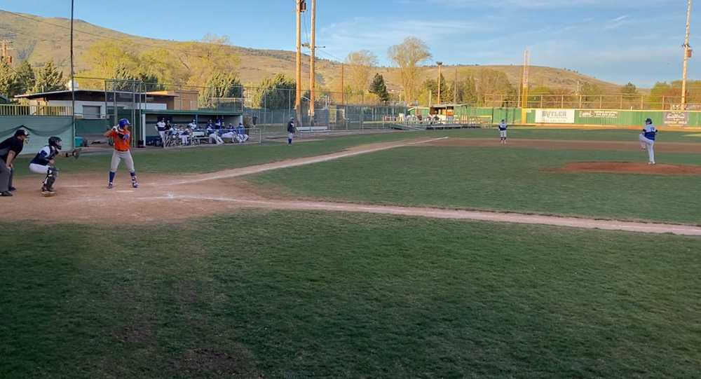 HIdden Valley's Nate Vidlak (at bat) had 5 hits in Game 1 of Monday's doubleheader, then hurled a complete game in the nightcap