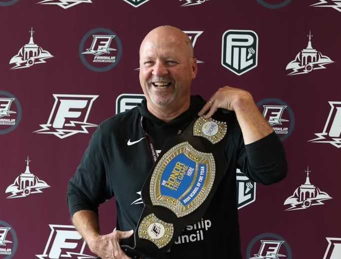 Scott Santangelo spent 31 years on the Franklin staff, the last 21 as athletic director. (Photo courtesy Franklin HS)