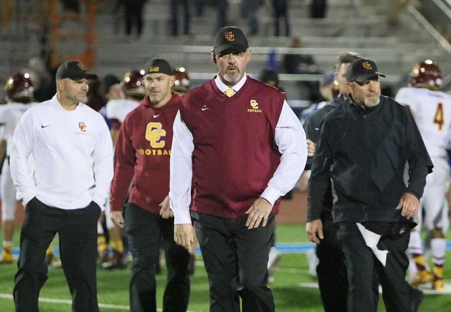 Central Catholic coach Steve Pyne believes changes to the 6A football schedule were made in haste. (Photo by Jim Nagae)