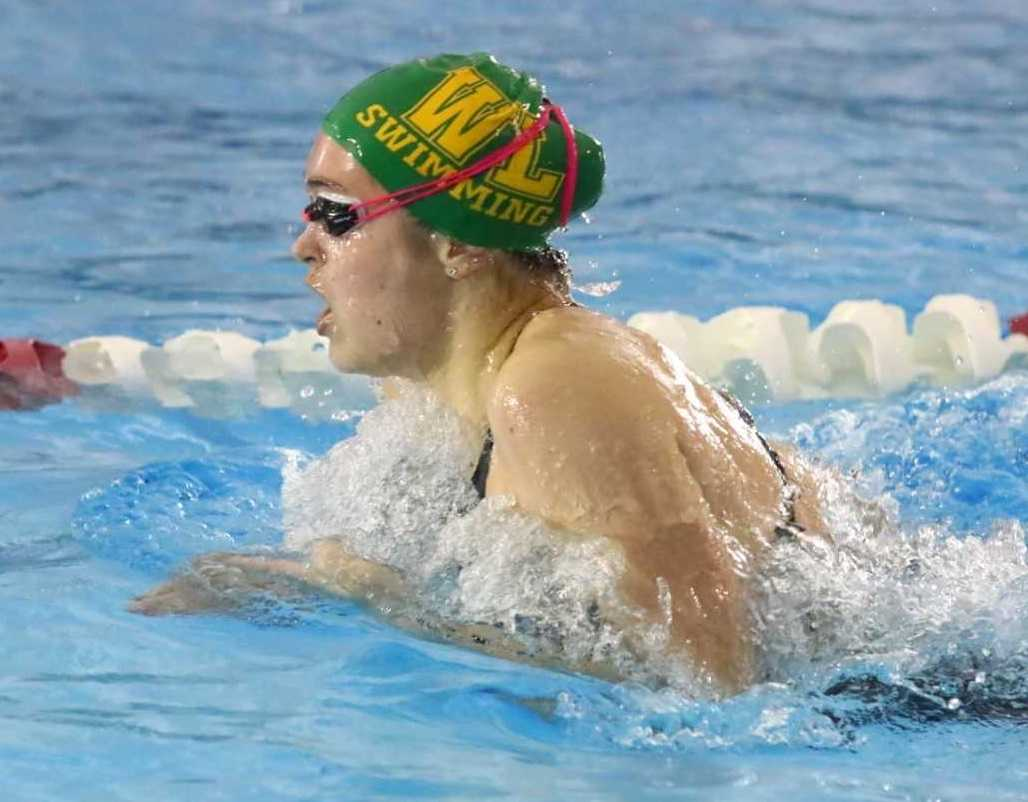 West Linn's Kate Laderoute is a title contender in the 200-yard IM and 100 backstroke. (NW Sports Photography)