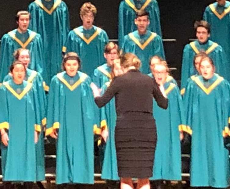West Linn, directed by Aubrey Patterson, shared the 6A choir championship with South Salem.